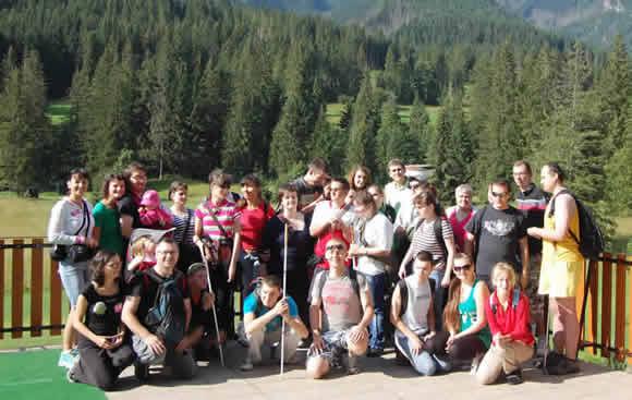 fotografia z mládežníckeho počítačového tábora pre zrakovo postihnutých - Reset