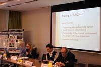 Alenka Gajšt zo Slovinska sa na záverečnej konferencii venovala vzdelávaniu mentorov