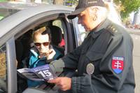 Preventisti napomínali vodičov, ktorí nedali nevidiacemu prednosť