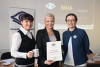 Ambasádorka programu Zdravé oči už v škôlke, Aneta Parišková, si prevzala čestné uznanie