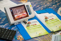 Binokulárny autorefraktometer a potvrdenia o meraní