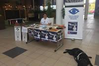 Informačný stánok v Nitre strážil vodiaci pes
