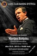 Plagát - koncert Martina Babjaka a Daniela Buranovského, jpg