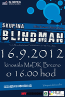 Plagát - koncert skupiny Blindmen v Brezne, jpg