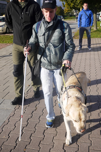 Prechod s vodiacim psom