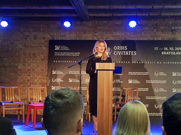 Na konferencii sa prítomným prihovorila aj prezidentka SR Zuzana Čaputová