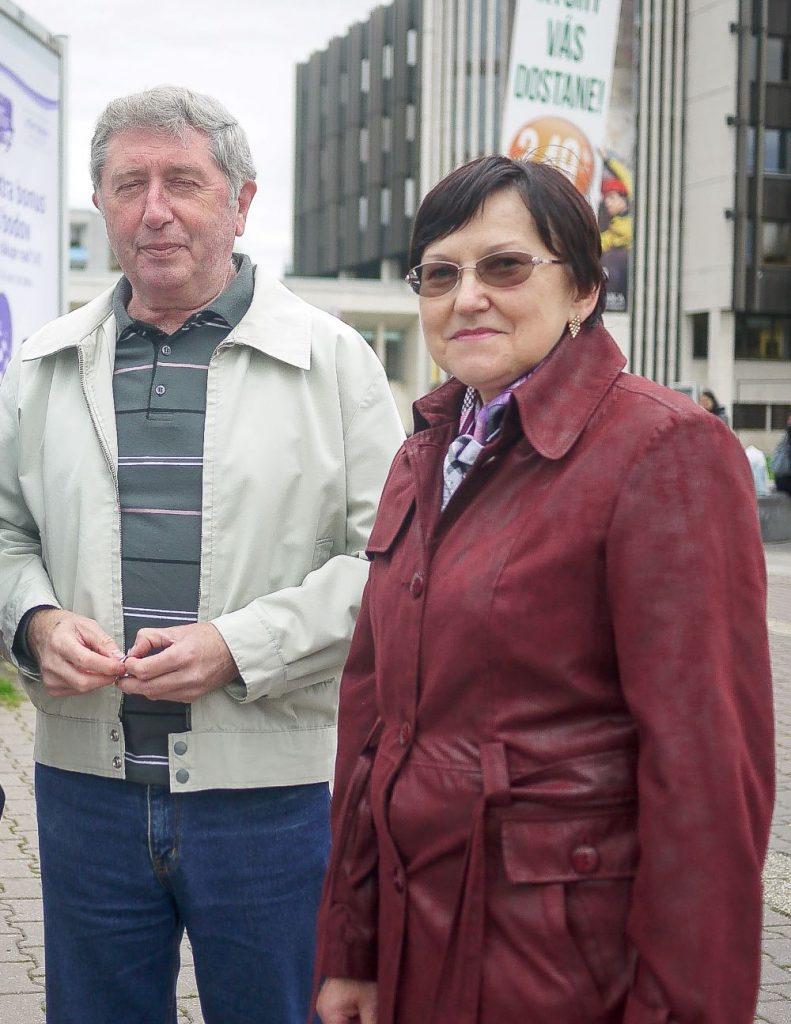 Mária Zubáková s manželom.