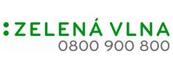 Logo Zelená vlna a tel číslo 0800 900 800